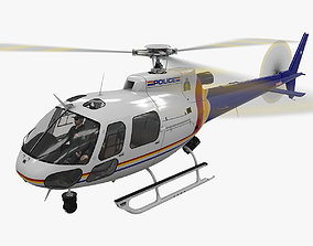 AS-350 Royal Canadian Mounted Police Animated 3D asset