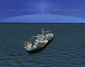 3D Tanker Ship 1940s era