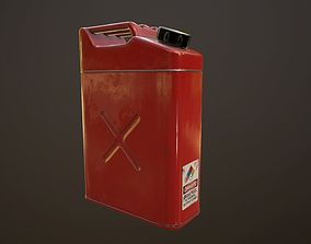 Gas canister 3D model low-poly