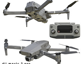 3D model DJI Mavic PRO 2 and Smart Controller