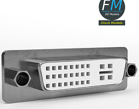 3D model DVI-I panel female