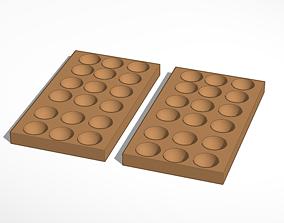 Round chocolate molds 3D print model