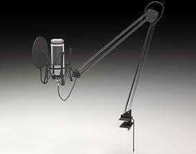 Microphone details 3D model