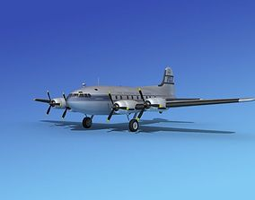 3D Boeing 307 Stratoliner Pan American 2