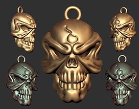 Devil Skull PD 3D print model jewelery