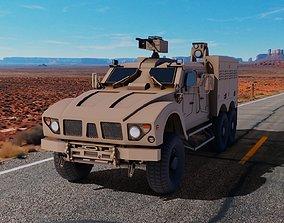 3D model game-ready Oshkosh M-ATV 6x6