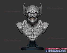 Marvel Wolverine Bust X-men Sculpture 3D printable model 1