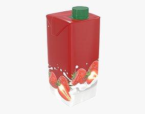 Milkshake 470ml cardboard box packaging with cap 3D