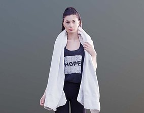 Myriam 10016 - Sporty girl with towel 3D model realtime