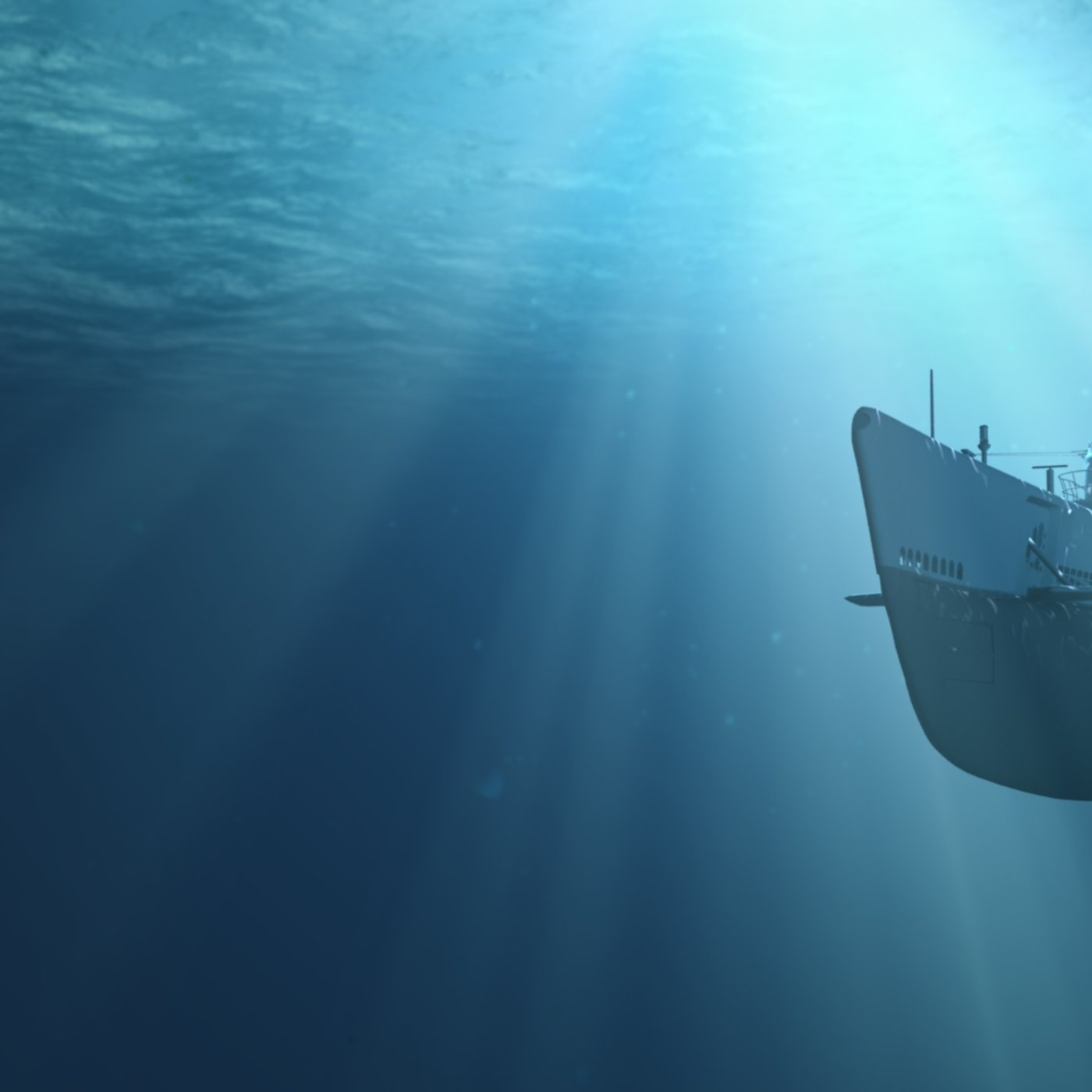 World War II Baleo Submarine in Action