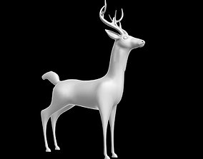 low-poly DEER 3DS MAX MODEL