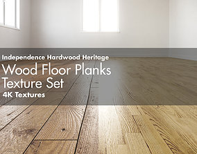 3D Independence Hardwood Heritage Wood Floor Planks 3