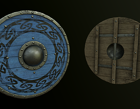 game-ready Viking Shield Pack - Triple AAA game asset