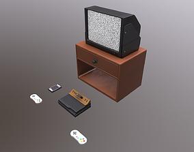 3D asset Vintage Atari Television