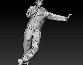 3D print model WW2 German tank crewman thinking