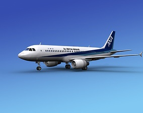 3D Airbus A320 All Nippon Airways