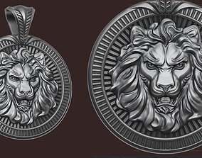 sculpture 3D printable model Lion Pendant
