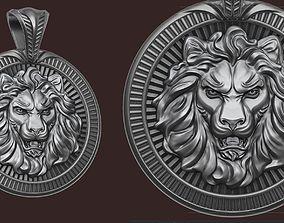 sculpture 3D printable model Lion Pendant