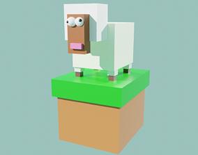 Funny sheep Test 3D asset