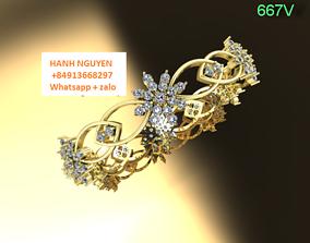3D bracelets - jewelry 3d sparkling