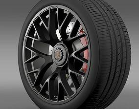 3D model Porsche GTS 2015 wheel