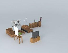 3D Contemporary lounge Zen World Houses