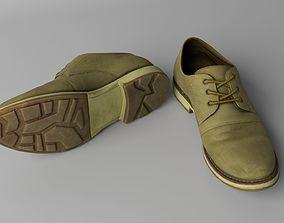 Elegant leather shoes 3D model