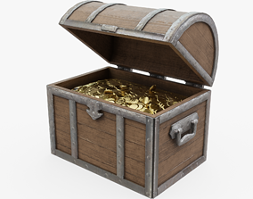 Treasure Chest 3D model game-ready PBR