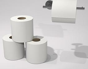 3D model toilet rolls and holder