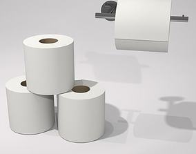 3D model toilet rolls and holder