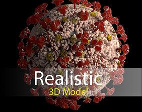 Corona virus 3d model Realistic Model Low-poly 3D model