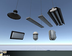 Lamps Set 1 3D asset