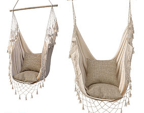 3D model Hammock BOHO IN CREAM COLOR 14000WHT