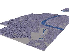 Large London city model 25 square kilometres