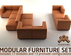 3D Modular Furniture Set by Walter Knoll