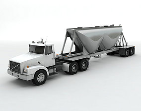 Semi Truck With Dry Cement Trailer 3D asset