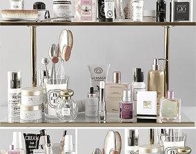 3D model Shelf with makeup