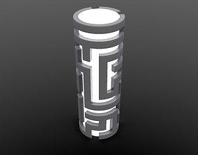 3D printable model Generative design Real maze lamp2