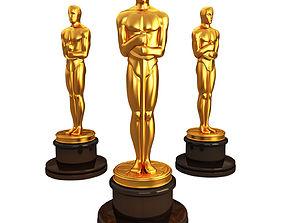 3d model Oscar statuette figure