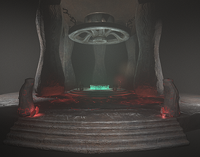 Ancient Temple 3D asset game-ready