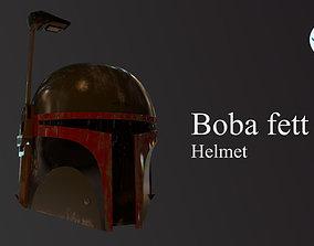 Boba fett Helmet 3D asset low-poly