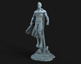 sculpture 3D print model Superman