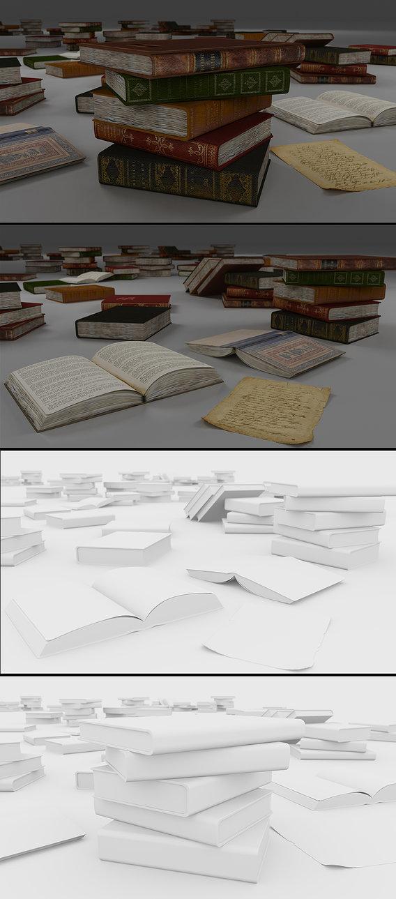 Books Render