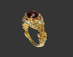 Beautiful soliraire ring 3D printable model