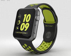 Apple Watch Nike 38mm Space Gray Aluminum Case Black 3D 1