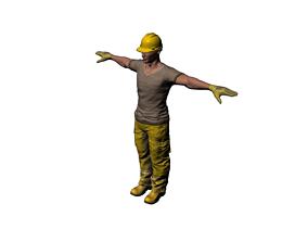 builder 3D model