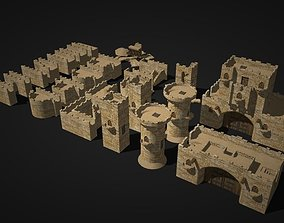 castle wall collection 3D model