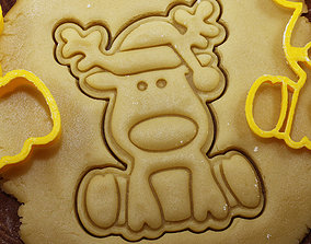 3D print model 0007 Plunger the Deer Rudolph cookie 2