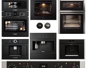 Appliance collection bosch neff miele 3D asset