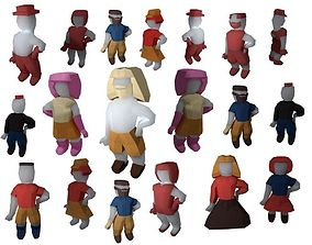 create your origami character RIGGED 3D model